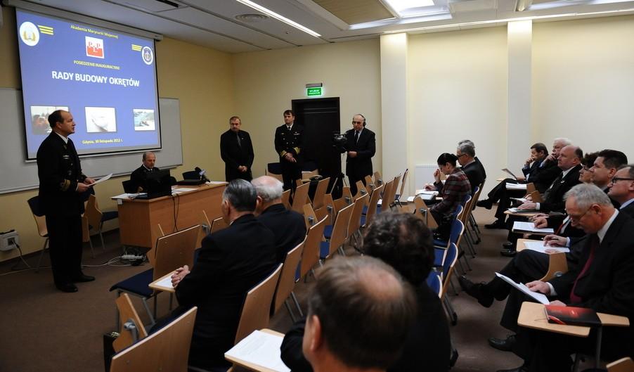 Posiedzenie inauguracyjne Rady Budowy Okrętów w Akademii Marynarki Wojennej w Gdyni  w dniu 30 listopada 2012 r.